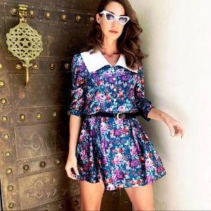 Dresses & Skirts - 90s Babydoll Floral Print Grunge Summer Mini Dress